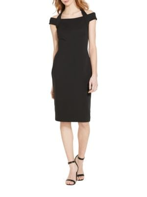 Ponte Off-the-Shoulder Sheath Dress by Lauren Ralph Lauren