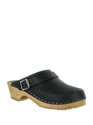 Alma Leather Clogs by Mia