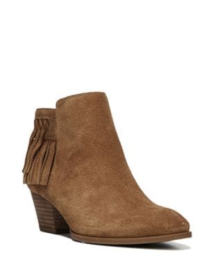 Gerri Fringed Suede Ankle Boot by Franco Sarto