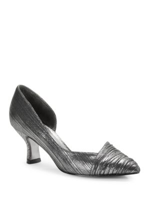 Harriet Pleated d Orsay Pumps by Adrianna Papell