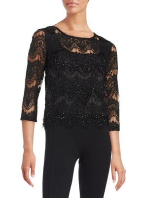 Embellished Lace Top 500044870699