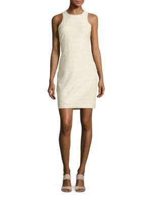 Vail Jewelneck Sheath Dress by Belle Badgley Mischka