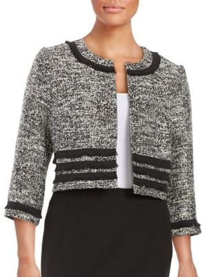 Textured Cropped Jacket by Phase Eight