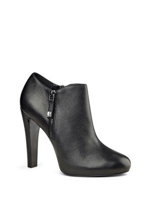 Buy Binnie Leather Ankle-Length Booties by Nine West online