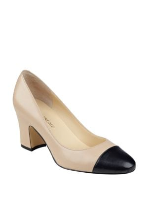 Lindi Leather Cap-Toe Pumps by Ivanka Trump