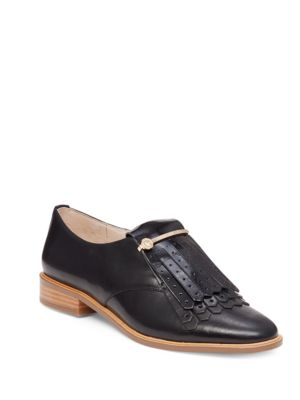 Lo-Tamare Kiltie Patent Leather Oxfords by Louise et Cie