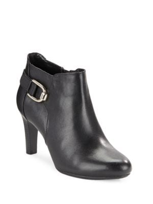 Layita Leather Ankle Booties by Bandolino