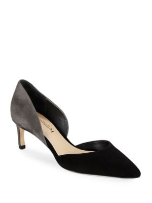 d Orsay Pointed Toe Suede Heels by Via Spiga