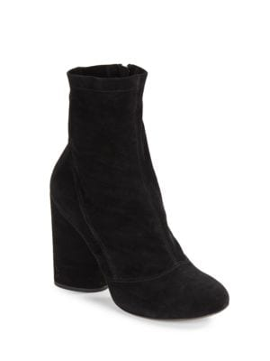 Grace Suede Block-Heel Booties by Marc Jacobs