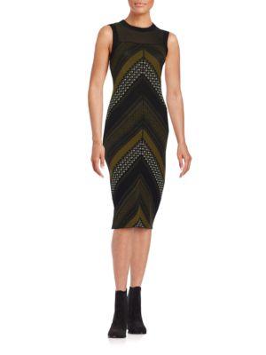 Chevron Illusion Dress by RACHEL Rachel Roy