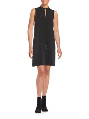 Keyhole Crepe Shift Dress by Erin Fetherston