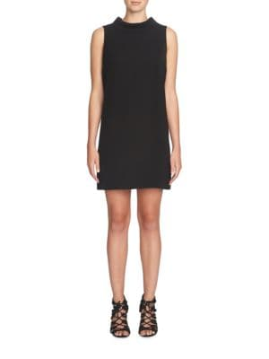 Solid Mock Neck Shift Dress by Cynthia Steffe