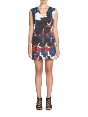Eloide V-Neck Floral Dress by Cynthia Steffe