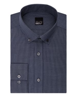 Microgrid Checkered Long Sleeve Cotton Shirt by William Rast