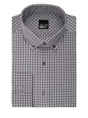Checkered Long Sleeve Cotton Blend Shirt by William Rast