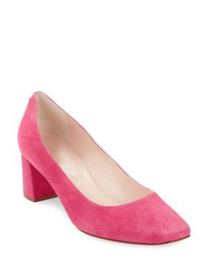 Dolores Square Toe Suede Heels by Kate Spade New York