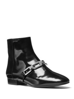 Lennox Patent Leather Booties by Michael Kors Collection