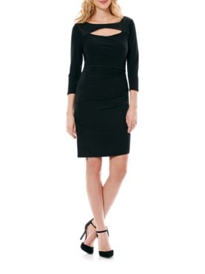 Boatneck Cutout Fitted Dress by Laundry by Shelli Segal