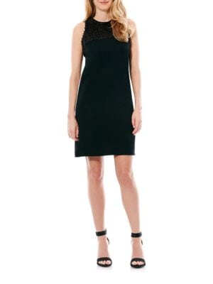 Beaded Neckline Shift Dress by Laundry by Shelli Segal