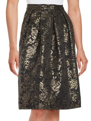 Textured Pattern Knee-Length Skirt by Marina