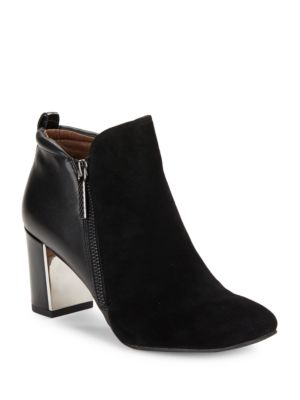 Buy Coralie Suede and Leather Booties by Donald J Pliner online