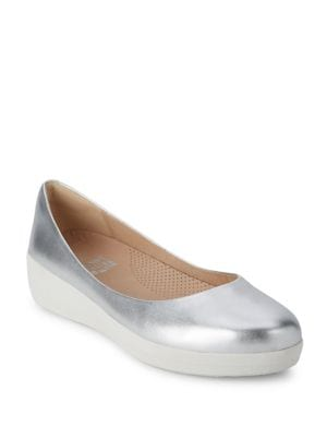 Superballerina TM Leather Ballet Flats by FitFlop
