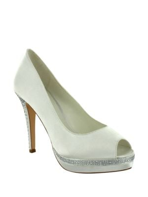 Julia Peep Toe Stiletto Pumps by Menbur