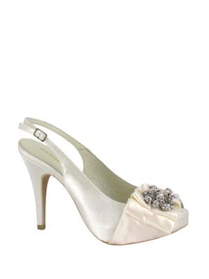 Nephin Slingback Satin Pumps by Menbur