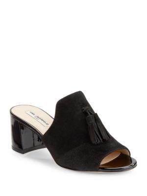 Hettie Suede Sandal Heels by Karl Lagerfeld Paris