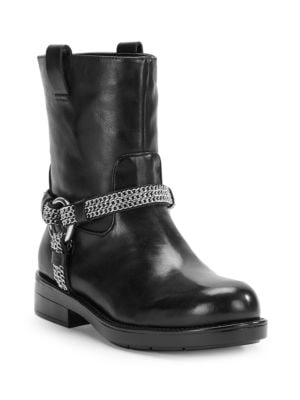 Buy Vernet Leather Ankle Boots by Karl Lagerfeld Paris online