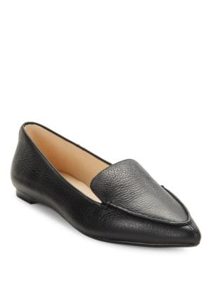 Destine Calf Hair-Accented Leather Loafers by Karl Lagerfeld Paris