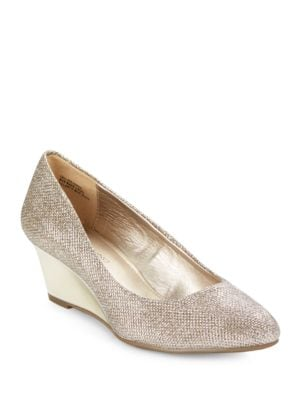 Franci Suede Wedge Pumps by Bandolino