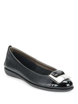 Rise N Curry Leather Flats by The Flexx