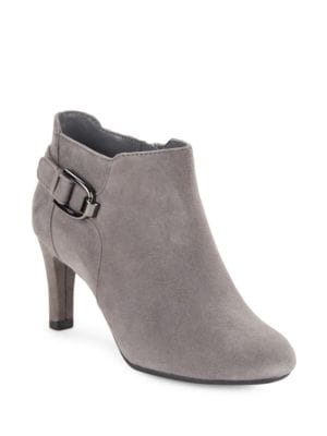 Layita Suede Ankle Booties by Bandolino