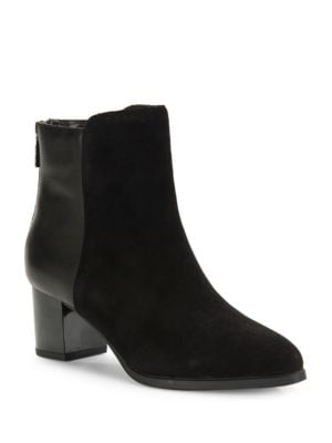 Planta Leather and Suede Ankle Boots by Bandolino