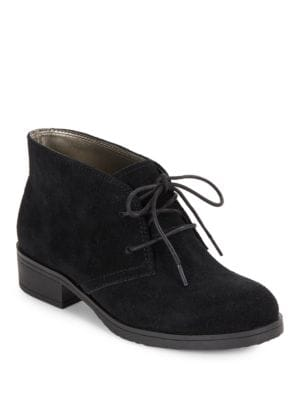 Talon Suede Lace-Up Booties by Bandolino