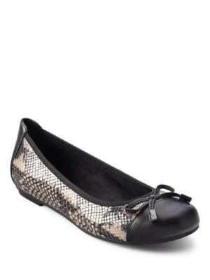 Spark Minna Faux Leather Ballerina Flats by Vionic