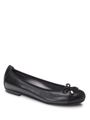 Minna Leather Ballet Flats by Vionic