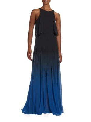 Silk Ombre Cutout Gown by Halston Heritage