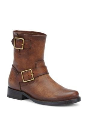 Vicky Engineer Buckled Leather Boots by Frye