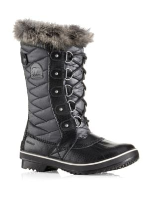 Tofino II Coated Canvas & Faux Fur Winter Boots by Sorel