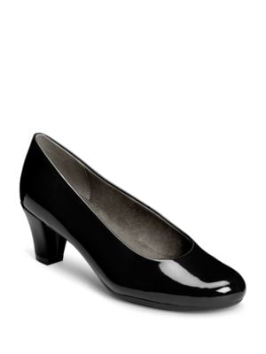 Shore Thing Faux Patent Leather Pumps by Aerosoles
