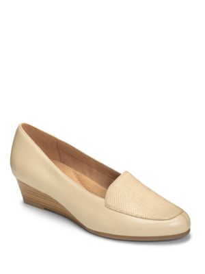 Lovely Leather Slip-On Shoes by Aerosoles