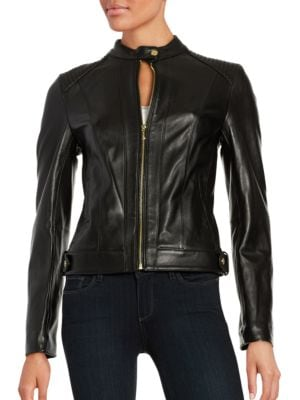 Quilted Italian Leather Jacket 500045535275