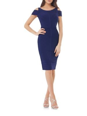 Cold Shoulder Bandage Dress by Js Collections