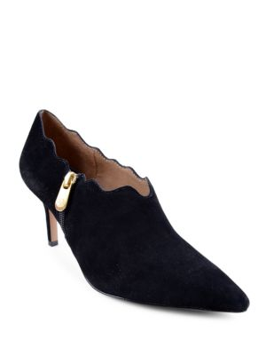 Buy Firisna Scalloped Suede Shooties by Adrienne Vittadini online