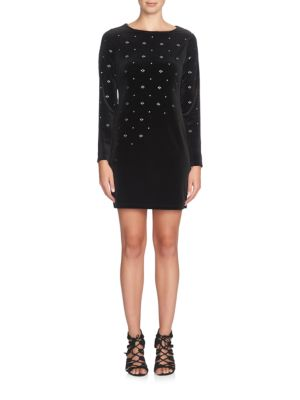 Natasia Long Sleeve Embellished Dress by Cynthia Steffe