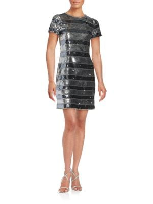 Embellished Striped Dress by Aidan Aidan Mattox