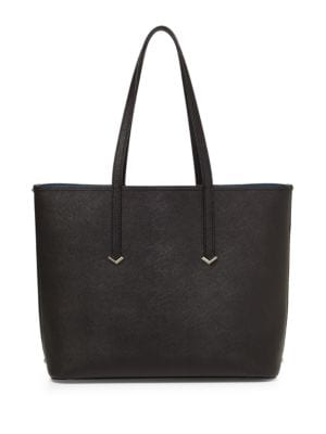 Zipper Accented Leather Tote by Botkier New York