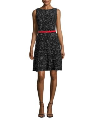 Dotted A-Line Dress by Tommy Hilfiger